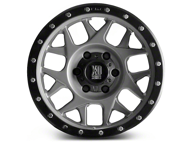 XD Bully Matte Gray with Black Ring 6-Lug Wheel; 17x8.5; 0mm Offset (14-18 Silverado 1500)