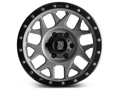 XD Bully Matte Gray w/ Black Ring 6-Lug Wheel - 17x8.5 (99-18 Silverado 1500)
