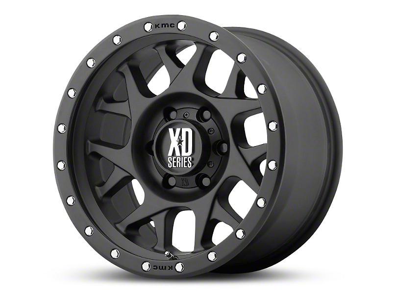 XD Bully Satin Black 6-Lug Wheel; 17x8.5; 0mm Offset (14-18 Silverado 1500)