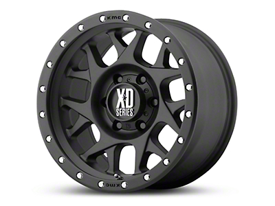 XD Bully Satin Black 6-Lug Wheel - 17x8.5 (99-18 Silverado 1500)
