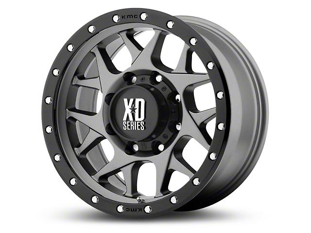 XD Bully Matte Gray w/ Black Ring 6-Lug Wheel - 17x9 (99-19 Silverado 1500)