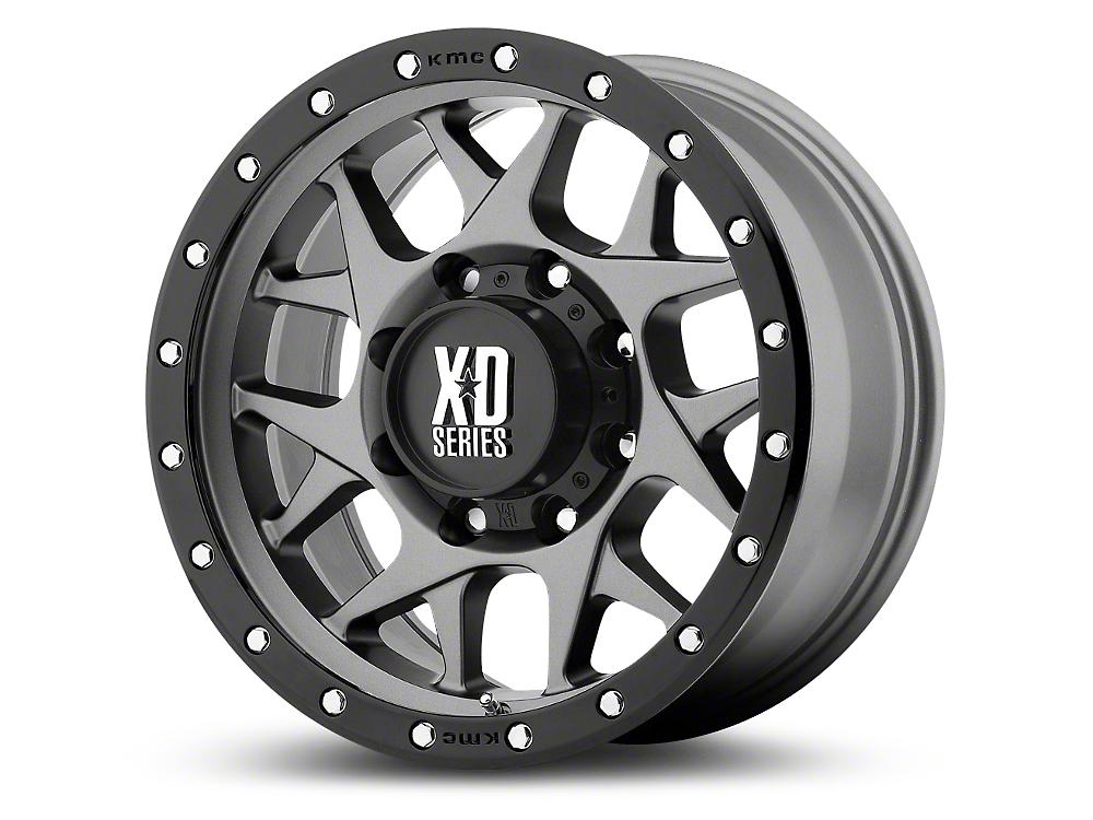 XD Bully Matte Gray w/ Black Ring 6-Lug Wheel - 17x9 (99-18 Silverado 1500)