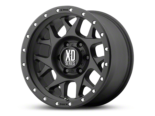 XD Bully Satin Black 6-Lug Wheel - 17x9 (99-18 Silverado 1500)