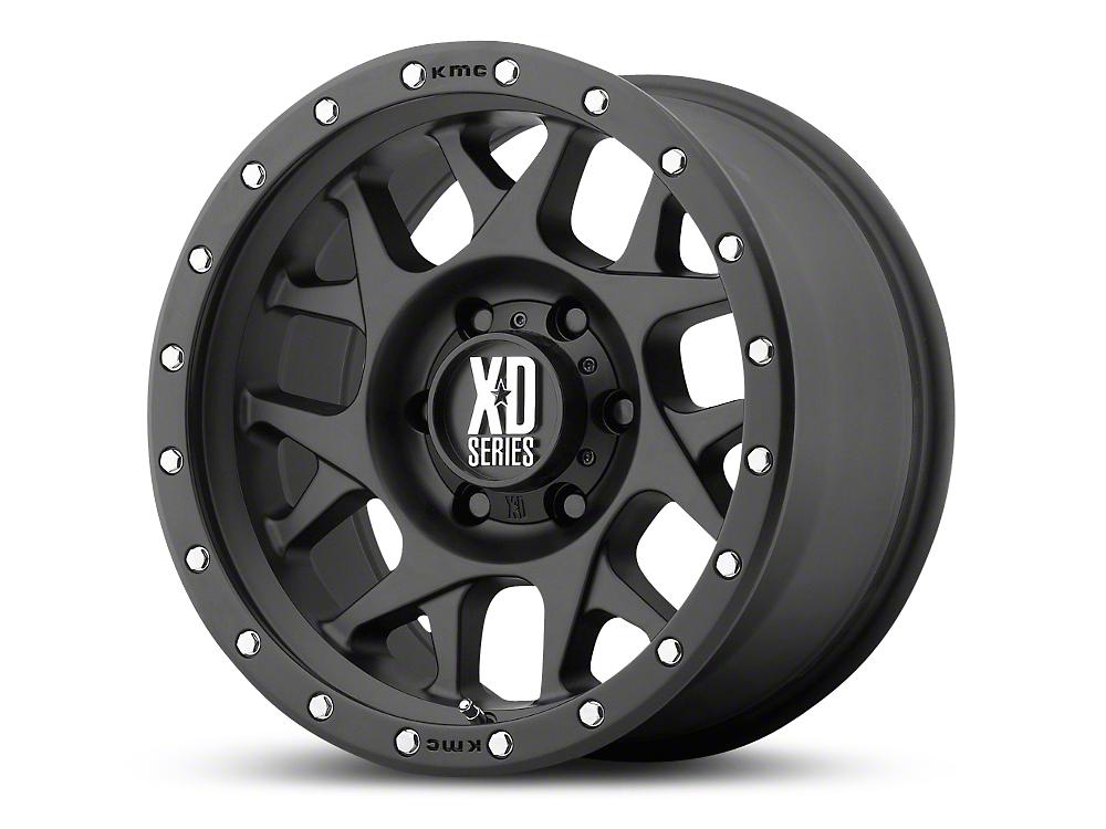 XD Bully Satin Black 6-Lug Wheel - 17x9 (99-18 Silverado 1500)