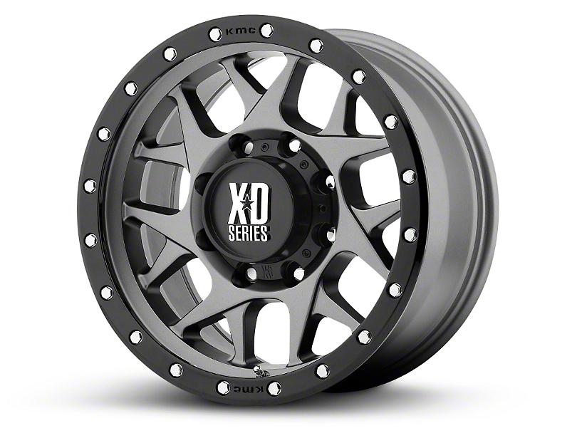 XD Bully Matte Gray w/ Black Ring 6-Lug Wheel - 18x9; 18mm Offset (99-19 Silverado 1500)