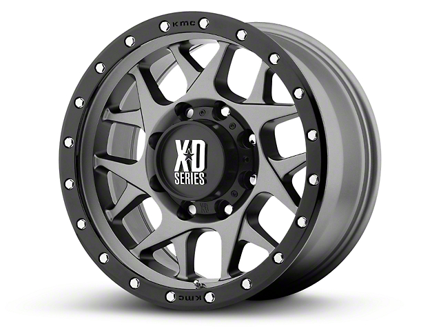 XD Bully Matte Gray w/ Black Ring 6-Lug Wheel - 18x9 (99-18 Silverado 1500)