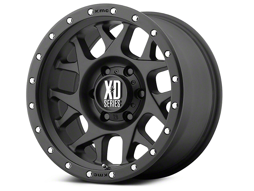 XD Bully Satin Black 6-Lug Wheel - 18x9 (99-18 Silverado 1500)