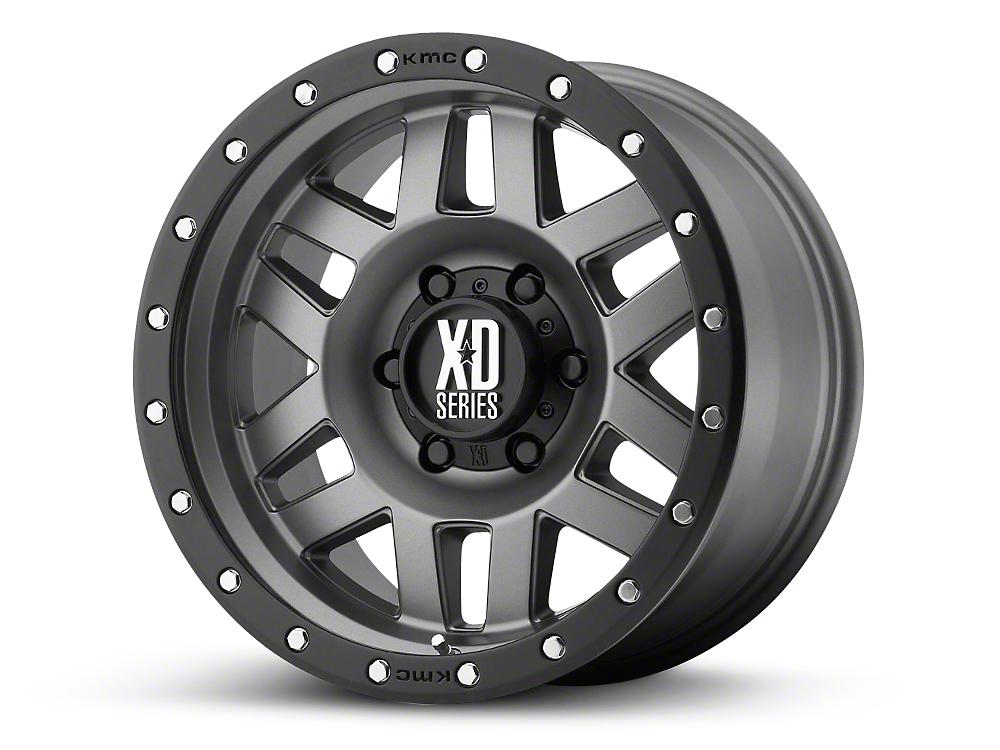 XD Machete Matte Gray w/ Black Ring 6-Lug Wheel - 20x10 (99-18 Silverado 1500)