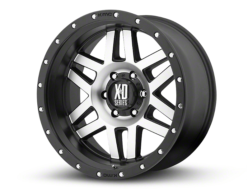 XD Machete Black Machined 6-Lug Wheel - 20x10; -24mm Offset (99-19 Silverado 1500)