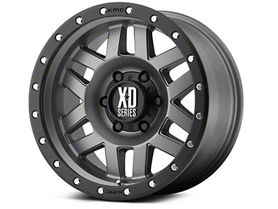 XD Machete Matte Gray w/ Black Ring 6-Lug Wheel - 20x9 (07-18 Silverado 1500)
