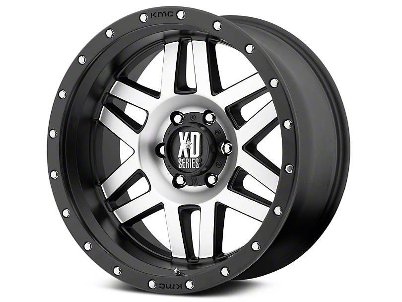 XD Machete Black Machined 6-Lug Wheel - 20x9 (99-19 Silverado 1500)