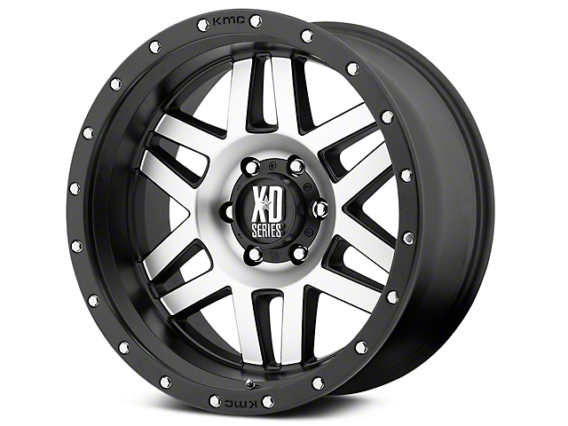 XD Machete Black Machined 6-Lug Wheel; 20x9 (99-20 Silverado 1500)