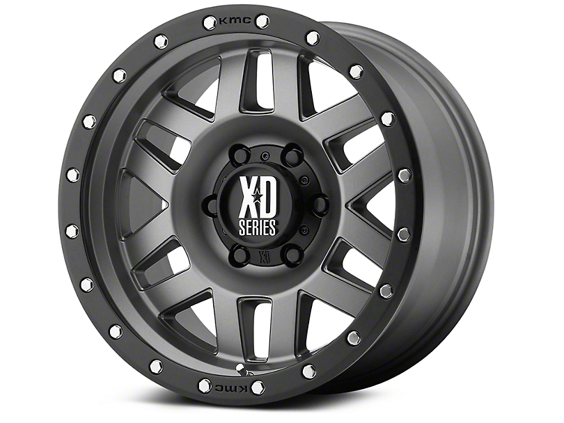 XD Machete Matte Gray w/ Black Ring 6-Lug Wheel - 17x9 (99-19 Silverado 1500)