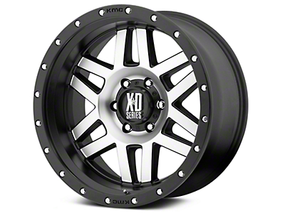 XD Machete Black Machined 6-Lug Wheel - 17x9 (99-18 Silverado 1500)