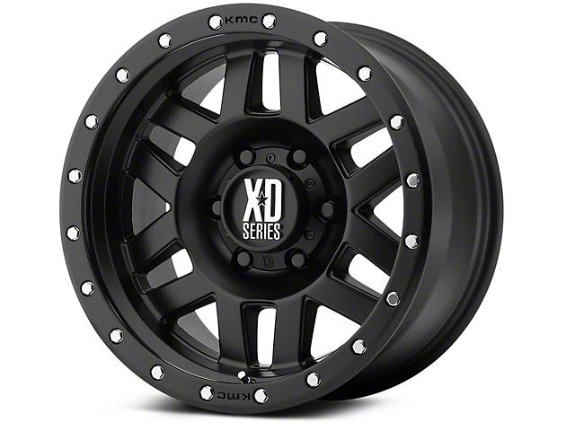 XD Machete Satin Black 6-Lug Wheel; 17x9 (99-20 Silverado 1500)