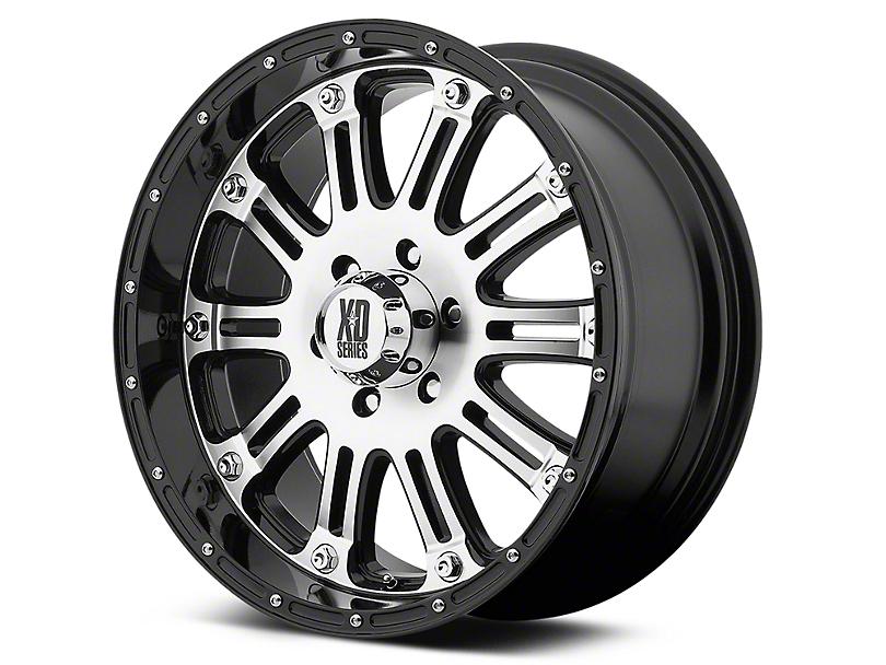 XD Hoss Gloss Black Machined 6-Lug Wheel - 22x9.5 (99-18 Silverado 1500)
