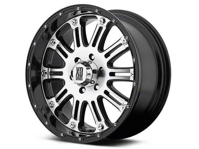 XD Hoss Gloss Black Machined 6-Lug Wheel - 20x9 (99-18 Silverado 1500)