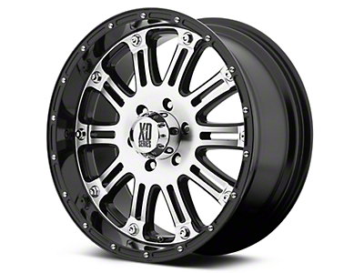 XD Hoss Gloss Black Machined 6-Lug Wheel - 20x9 (07-18 Silverado 1500)