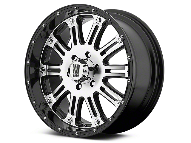 XD Hoss Gloss Black Machined 6-Lug Wheel - 17x9 (99-18 Silverado 1500)