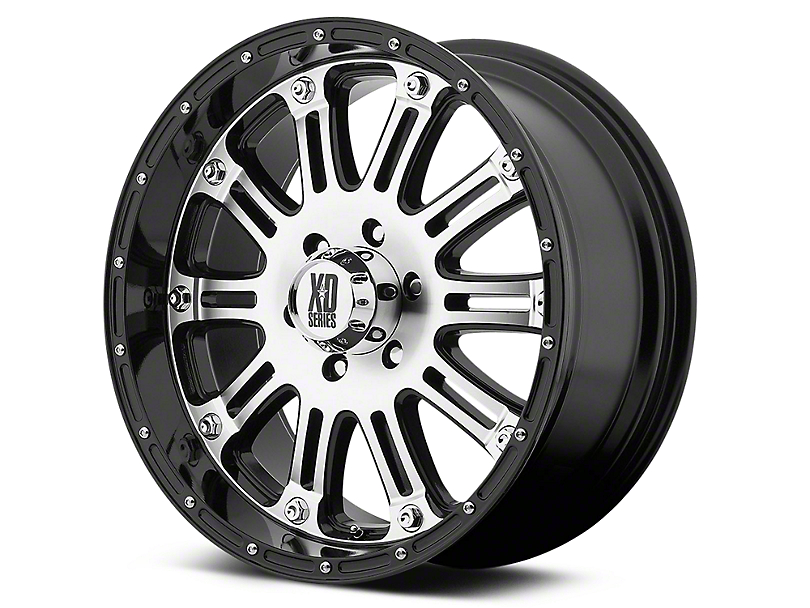 XD Hoss Gloss Black Machined 6-Lug Wheel - 18x9 (07-18 Silverado 1500)