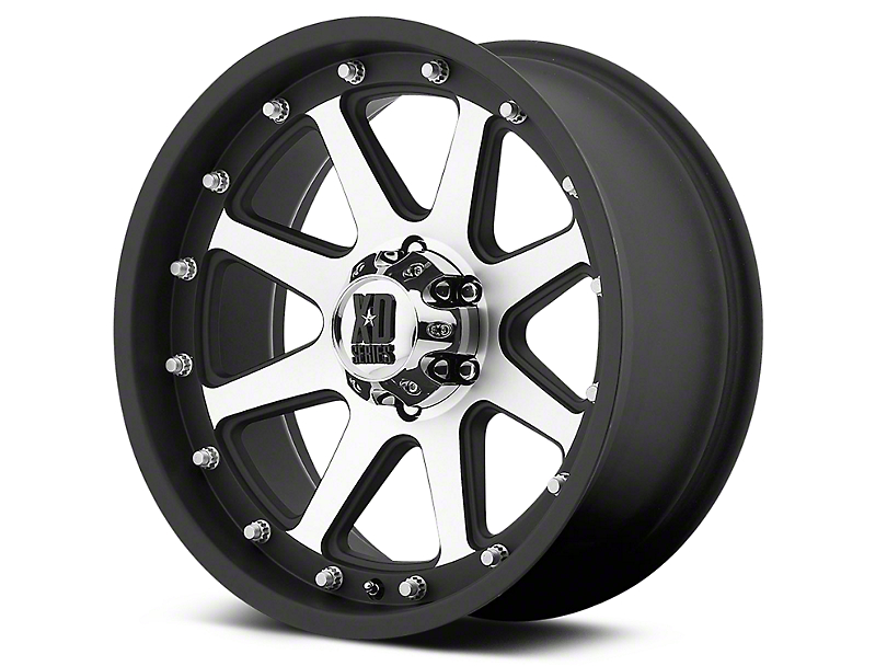 XD Addict Matte Black Machined 6-Lug Wheel - 20x9 (99-18 Silverado 1500)