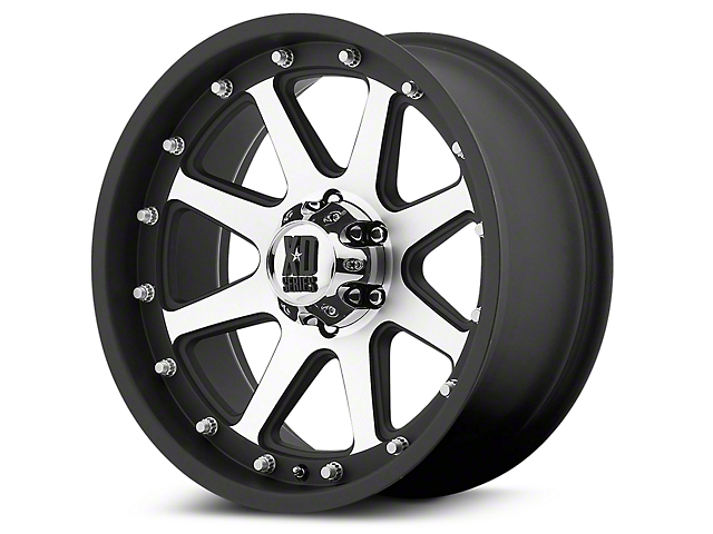 XD Addict Matte Black Machined 6-Lug Wheel - 17x9 (99-19 Silverado 1500)
