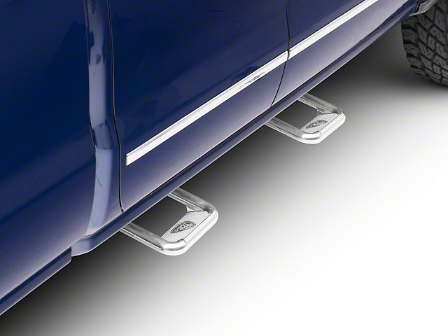 Carr Hoop II Side Steps; Polished (99-18 Silverado 1500)