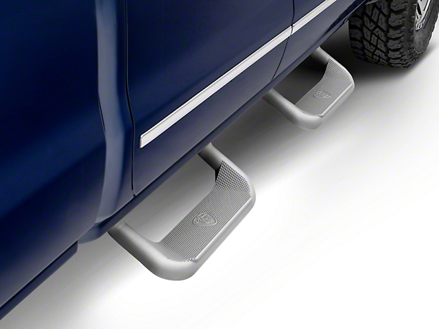 Carr Super Hoop Side Steps; Titanium Silver (99-18 Silverado 1500)