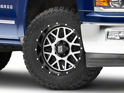 XD Grenade Satin Black Machined 6-Lug Wheel - 20x12 (99-18 Silverado 1500)