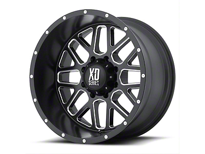 XD Grenade Satin Black Milled 6-Lug Wheel - 20x12 (99-18 Silverado 1500)