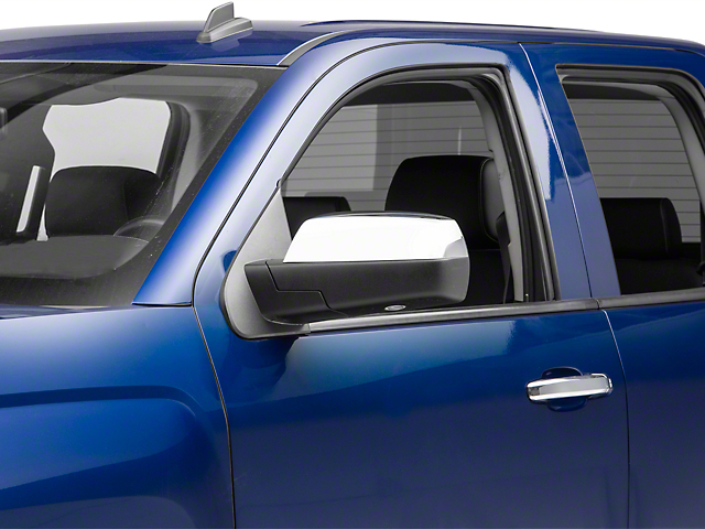 Upper Mirror Covers; Chrome (14-18 Silverado 1500)
