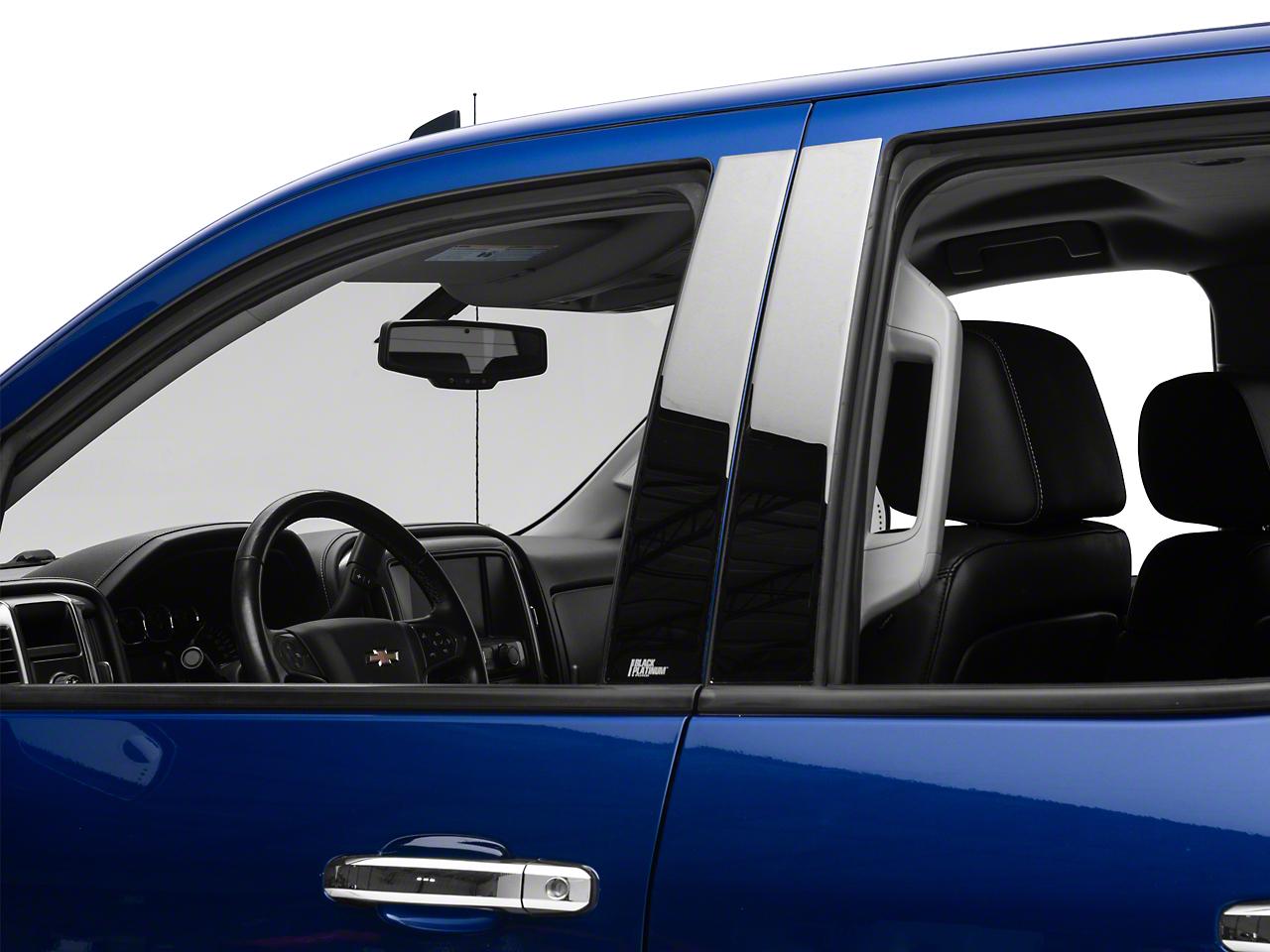 Black Platinum Pillar Posts (14-18 Silverado 1500 Double Cab, Crew Cab)