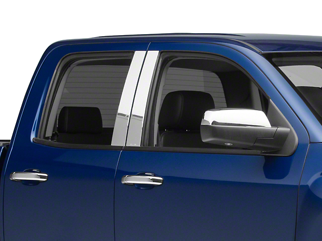 Stainless Steel Pillar Posts (14-18 Silverado 1500 Double Cab, Crew Cab)