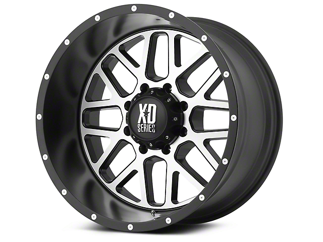 XD Grenade Satin Black Machined 6-Lug Wheel - 22x9.5 (99-18 Silverado 1500)
