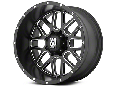 XD Grenade Satin Black Milled 6-Lug Wheel - 22x9.5 (99-18 Silverado 1500)