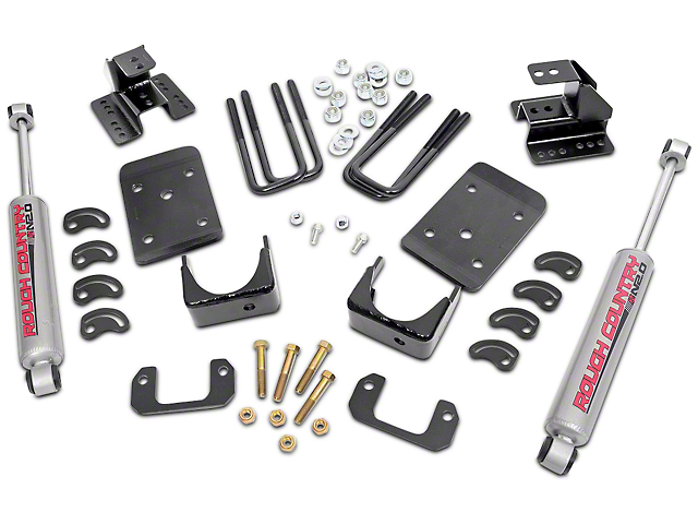 Rough Country Lowering Kit; 2 Inch Front / 4 Inch Rear (07-13 2WD Silverado 1500)