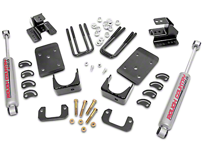 Rough Country 2 in. Front / 4 in. Rear Lowering Kit (14-18 2WD Silverado 1500, Excluding 6.2L)