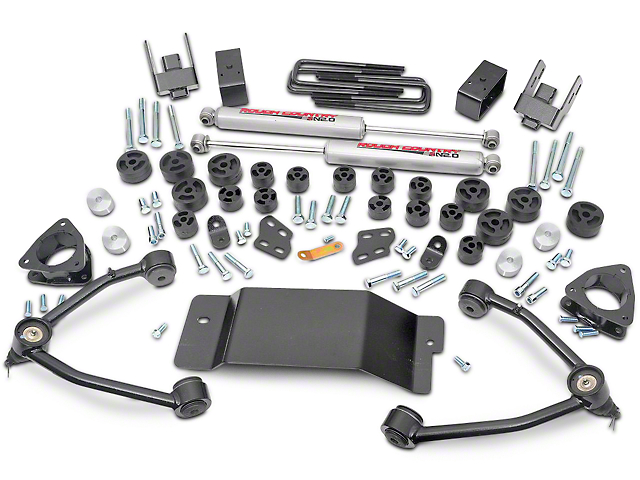 Rough Country 4.75-Inch Suspension and Body Lift Kit (07-13 4WD Silverado 1500)