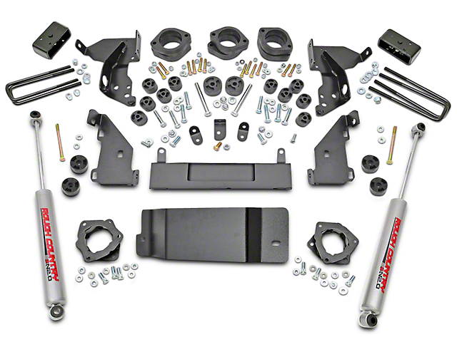 Rough Country 4.75-Inch Suspension and Body Lift Kit (14-15 4WD Silverado 1500 w/ Stock Cast Steel Control Arms)