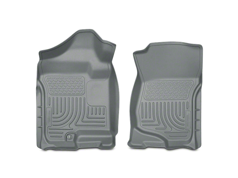 Husky WeatherBeater Front Floor Liners - Gray (07-13 Silverado 1500 Extended Cab, Crew Cab)