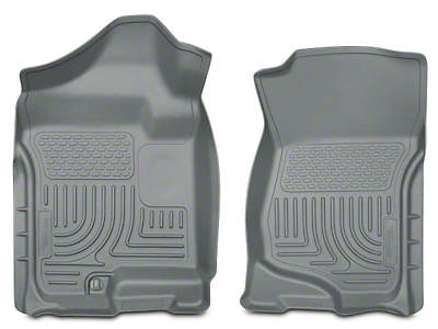 Husky WeatherBeater Front Floor Mats - Gray (07-13 Silverado 1500 Extended Cab, Crew Cab)