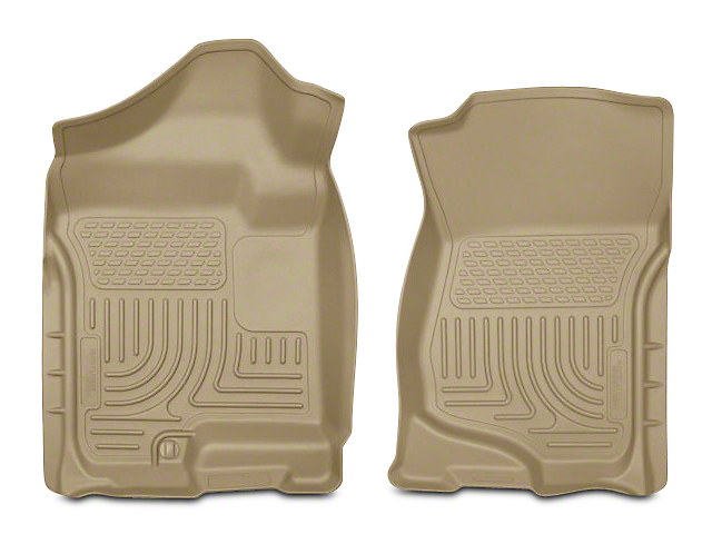 WeatherBeater Front Floor Liners; Tan (07-13 Silverado 1500 Extended Cab, Crew Cab)