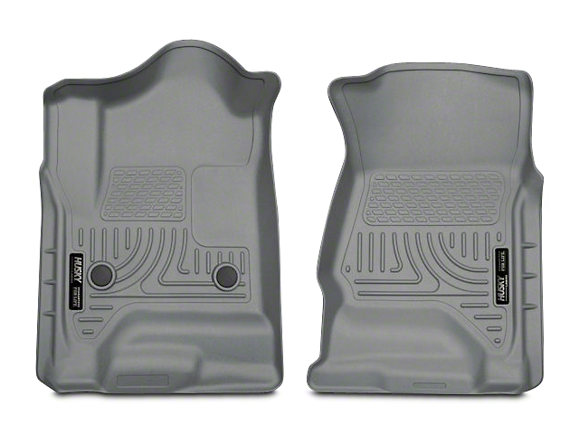 Husky WeatherBeater Front Floor Liners; Gray (14-18 Silverado 1500 Double Cab, Crew Cab)