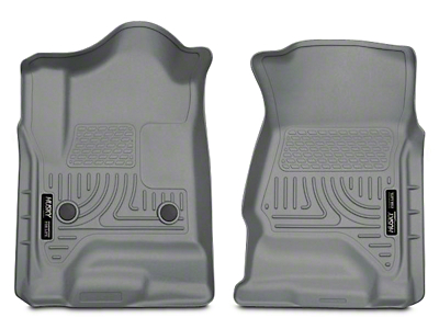 Husky WeatherBeater Front Floor Mats - Gray (14-18 Silverado 1500 Double Cab, Crew Cab)