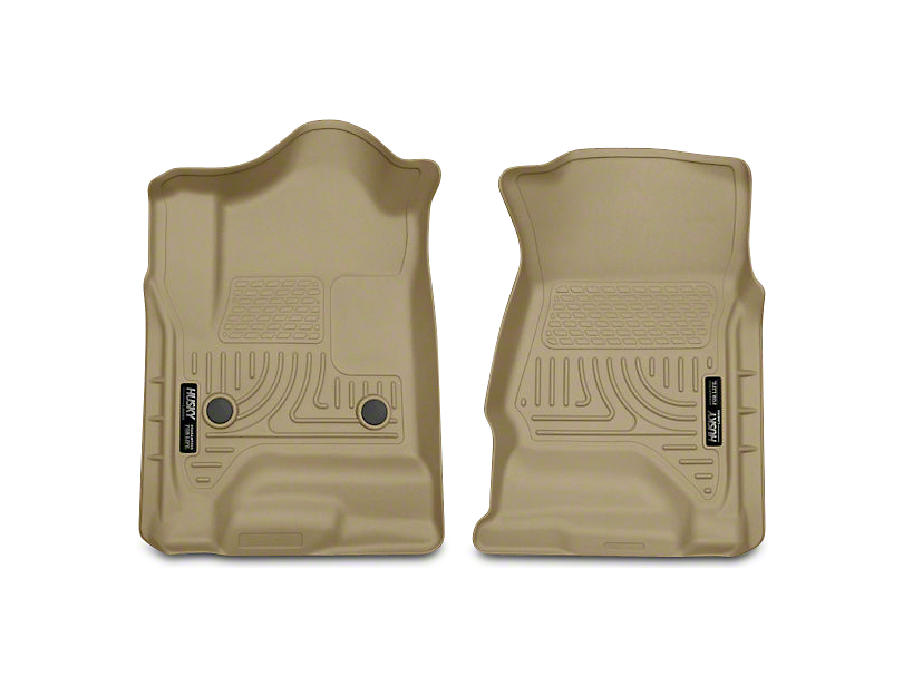 Husky WeatherBeater Front Floor Liners - Tan (14-18 Silverado 1500 Double Cab, Crew Cab)