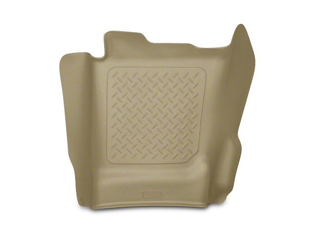 WeatherBeater Center Hump Floor Liner; Tan (14-18 Silverado 1500 Double Cab, Crew Cab)