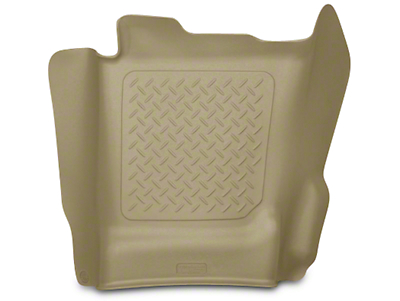 Husky WeatherBeater Center Hump Floor Liner - Tan (14-18 Silverado 1500 Double Cab, Crew Cab)