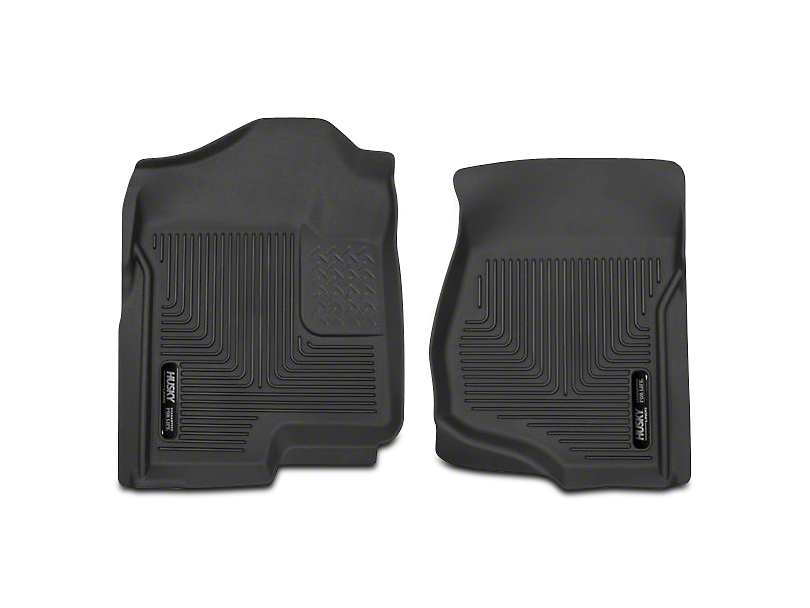 Husky X-Act Contour Front Floor Liners - Black (07-13 Silverado 1500 Extended Cab, Crew Cab)