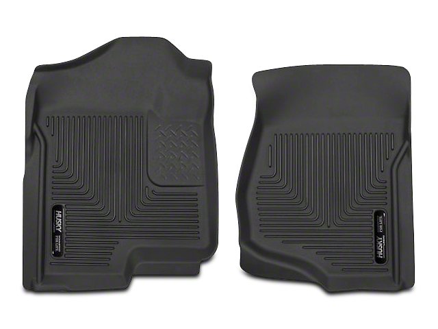 Husky X-Act Contour Front Floor Liners; Black (07-13 Silverado 1500 Extended Cab, Crew Cab)