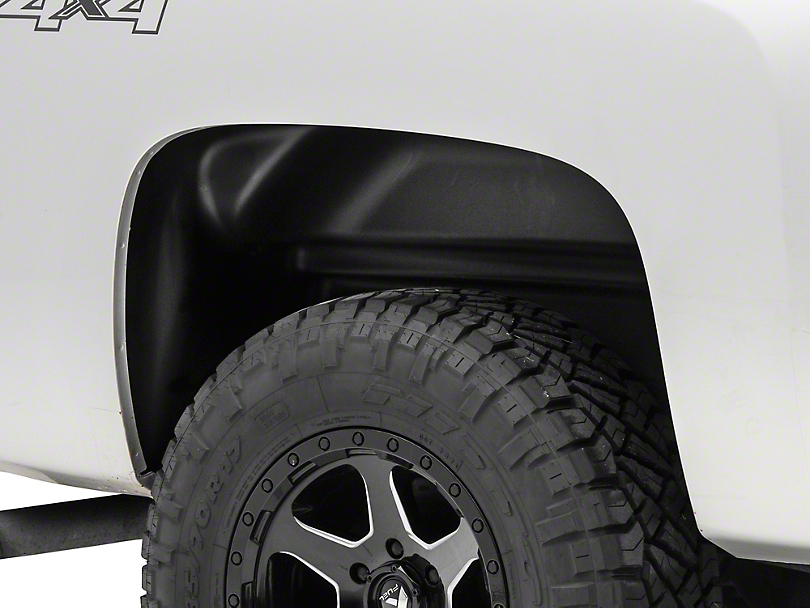 Husky Rear Wheel Well Guards - Black (07-13 Silverado 1500)